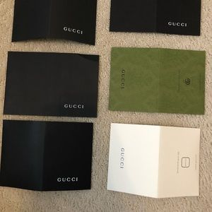 Gucci paper bifold envelopes